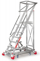 Drabina magazynowa aluminiowa MFTS, BM Serwis 1